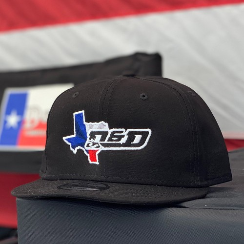 D and D Black Snap Back Hat