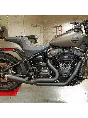 2018-2021 2:1 Softail M8 Abuelo Cat Up-Swept Megaphone Style Muffler