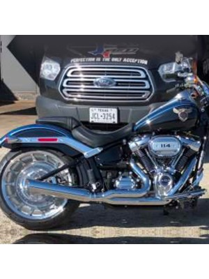 2018-2020 Wide Tire Softail M8 Low Cat 2:1 Exhaust